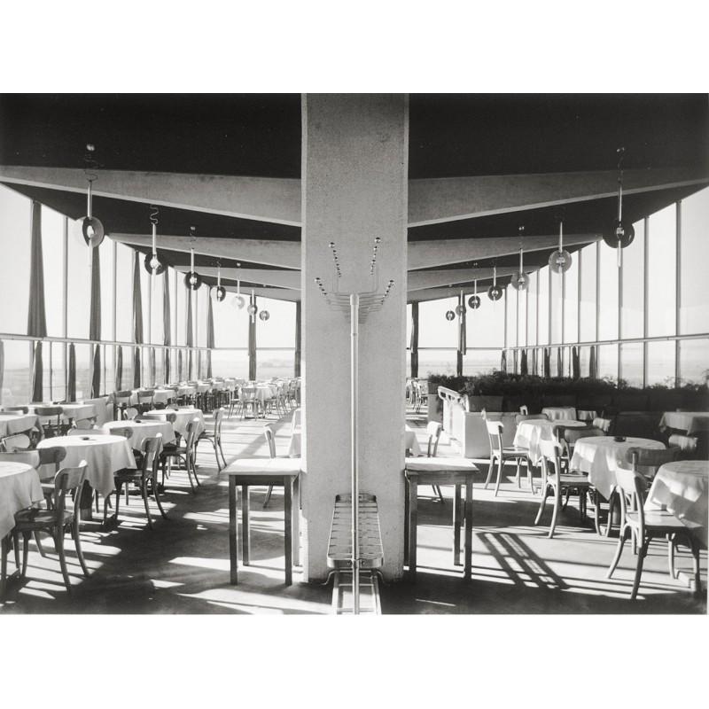 Hans FINSLER: Airport Restaurant Halle-Leipzig.Original photography (1931 - print 2003)