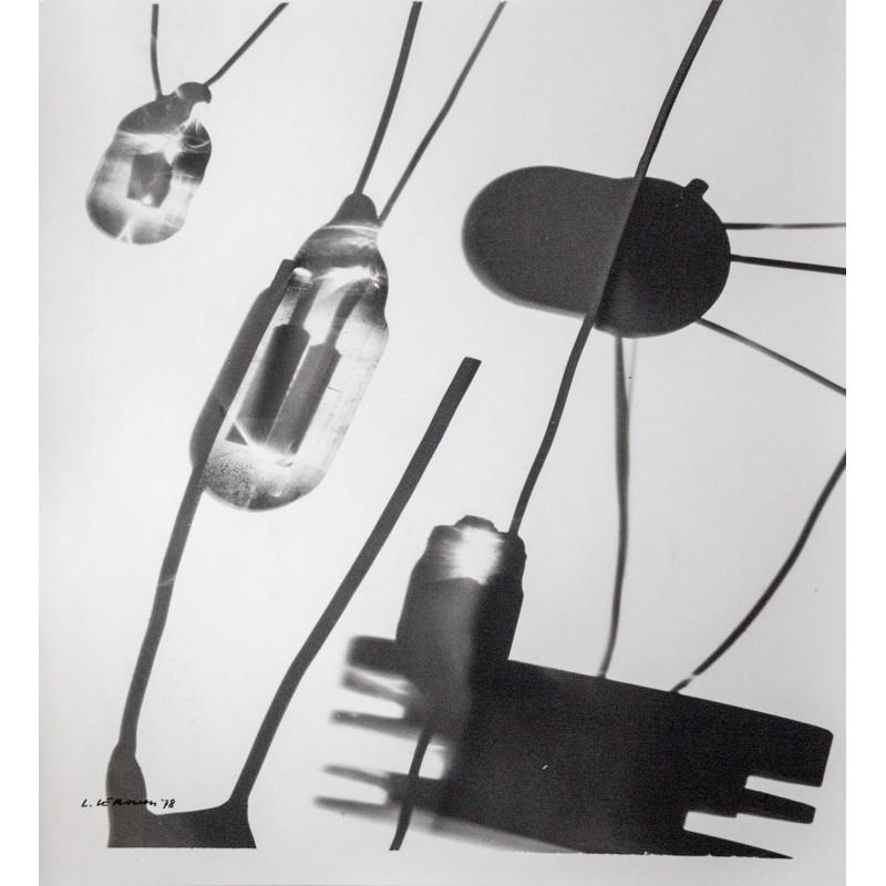 Luigi Veronesi:Photogram. Original photography - vintage print (1978)