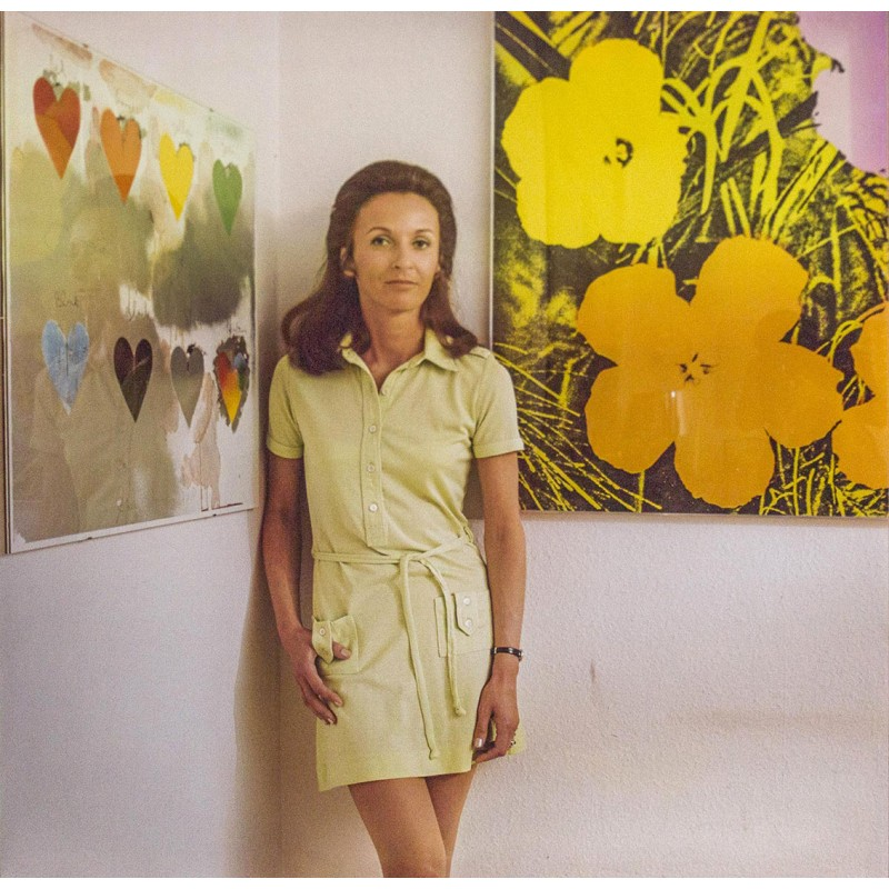 Willy GURSKY: Andy Warhol serigraphy with model.Colour print (1970th)