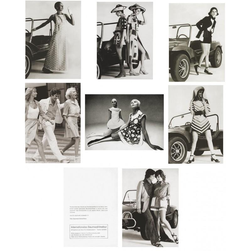 Die Strandmode 1971: Sieben Original Mode-Fotografien. Vintage prints (1971)