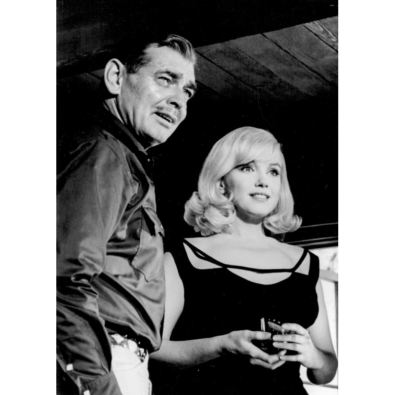 "Inge MORATH: Marilyn Monroe and Clarke Gable.""The Misfits"".Original photo (1960 - print 1999)"