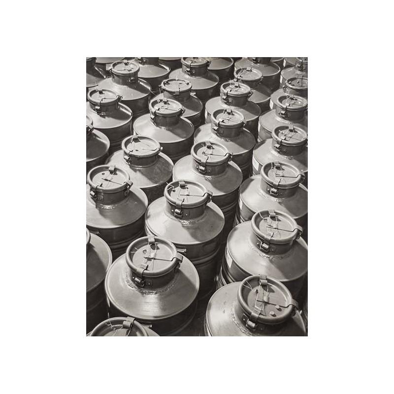 Alfred PAULUS: Milchkannen. Original-Fotografie (1950er Jahre)
