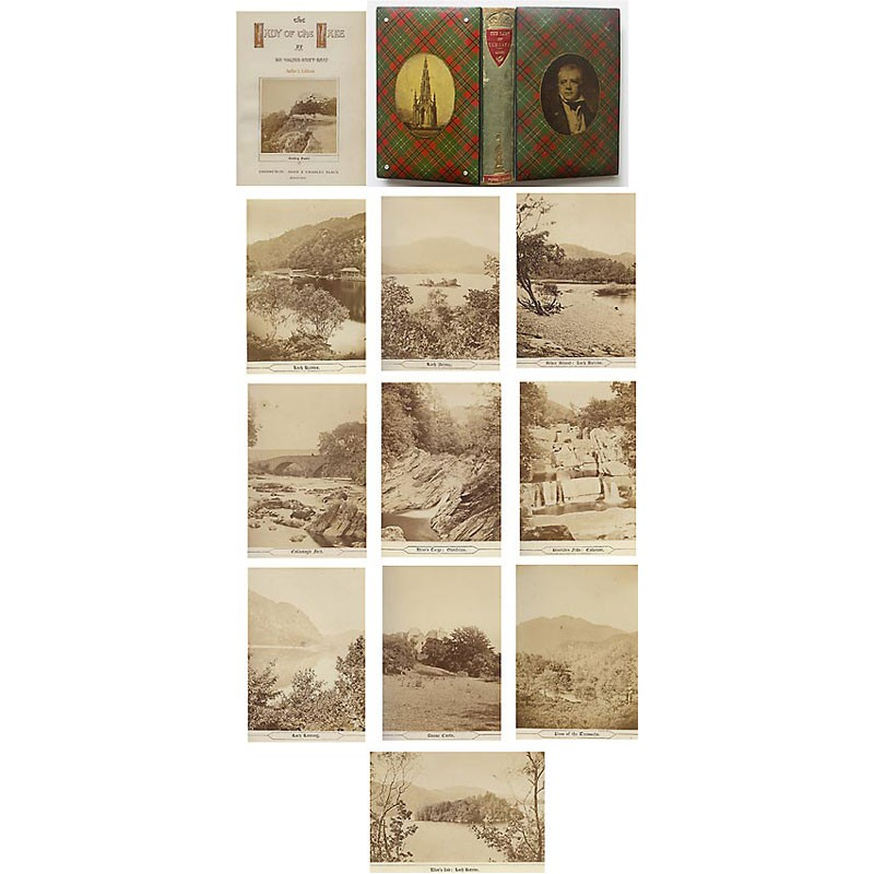 Sir Walter SCOTT: THE LADY OF THE LAKE. 11 Original photos (1869)