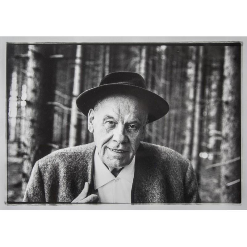 Stefan MOSES: Bildnis von Oskar Maria Graf. Orig.-Foto (1963 - späterer Abzug)