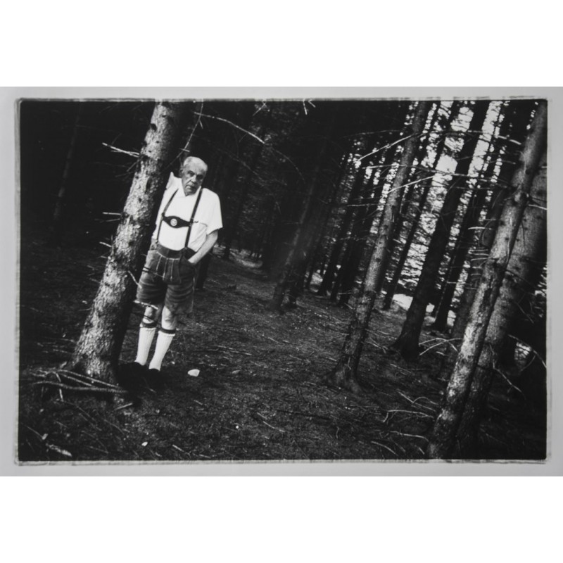 Stefan MOSES: Bildnis von Oskar Maria Graf. Original Fotografie (1963 - späterer Abzug)