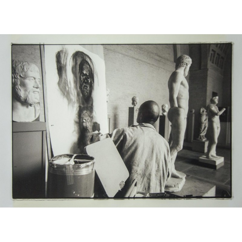 Stefan MOSES: JIM DINE at the Munich Glyptothek.Original photography (1992)