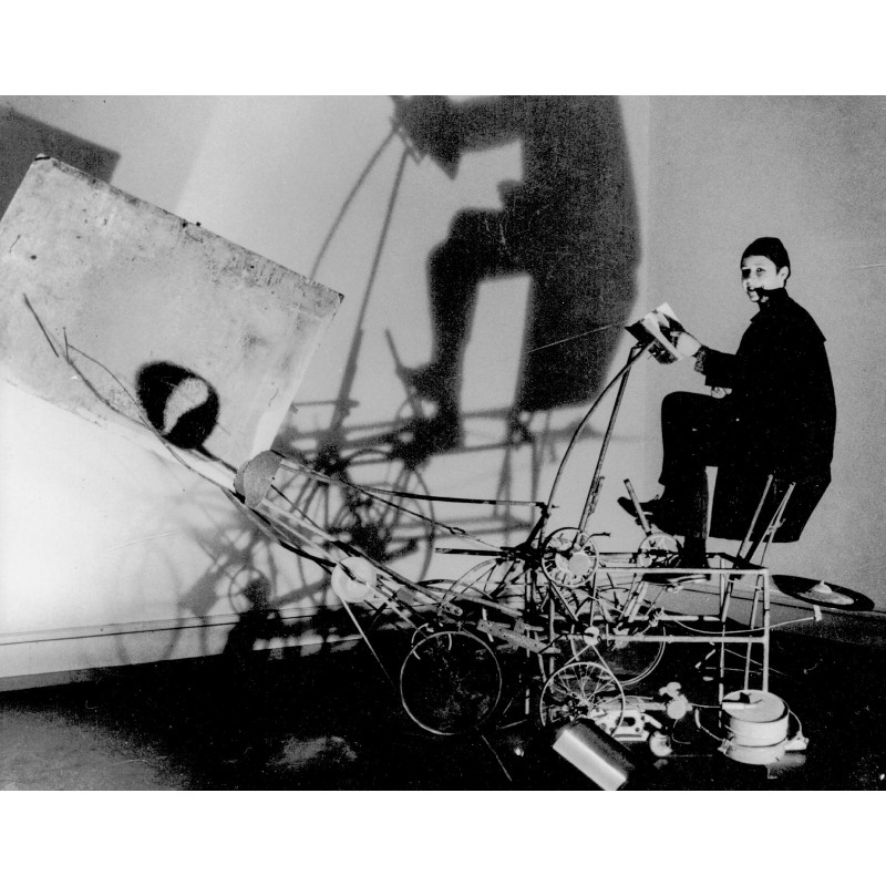 "Leonardo Bezzola: Jean Tinguelys ""Cyclograveur"" 1960. Original photography (2000)"