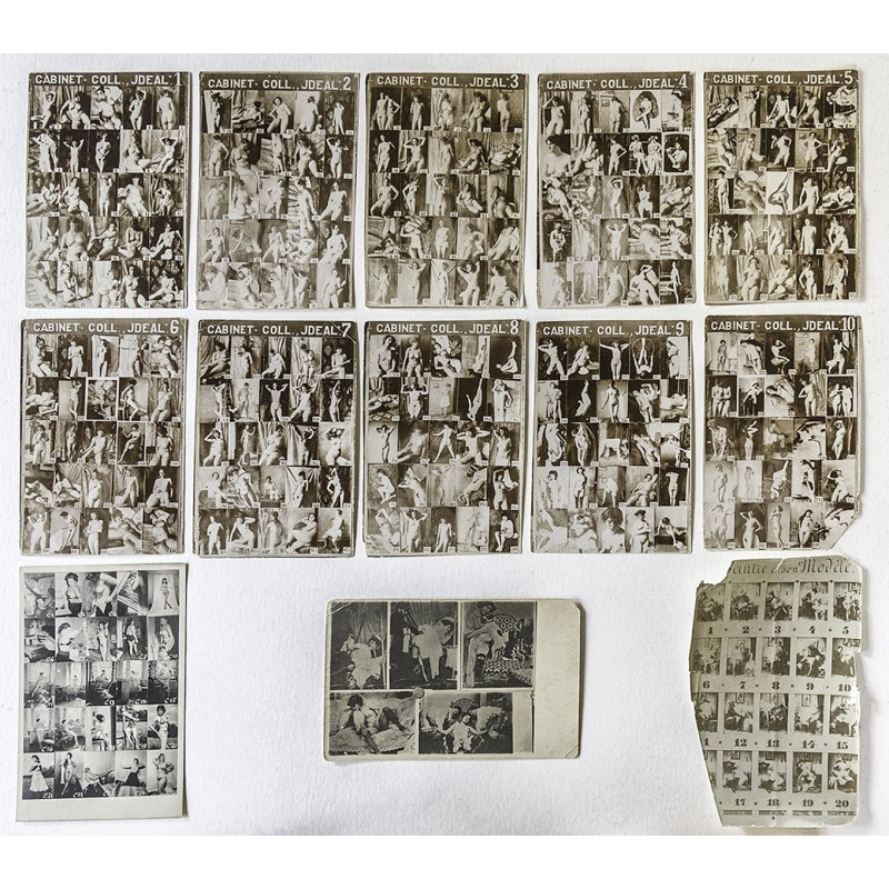293 nudes on 12 panels with altogether 293 nude photographs (approx 1890)