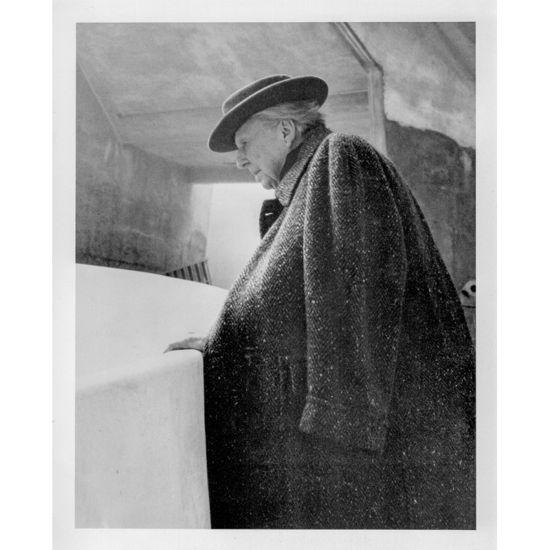 William SHORT: Frank Lloyd Wright, Architect. Original photography (1959 - print 1994)