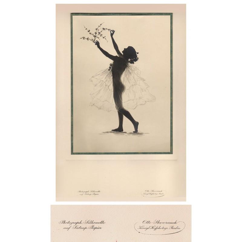 SKOWRANEK, Otto: Nude silhouette.Original photography (1920th)