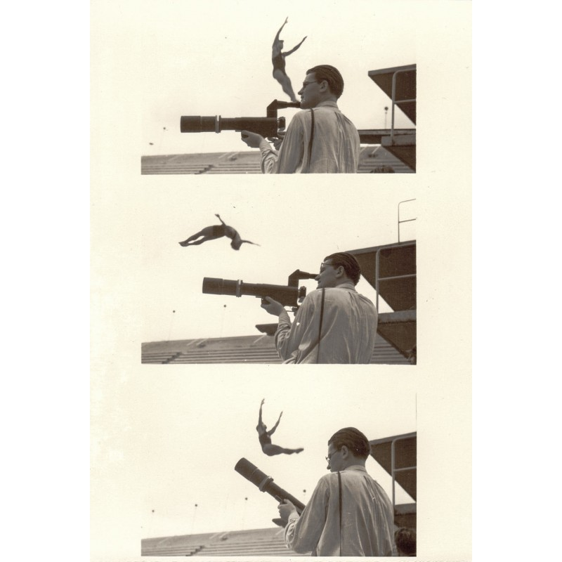 Josef SCHORER: Olympiade Berlin 1936: Fotograf Fred Koch. Original-Foto (1936 - Abzug 1950er Jahre)