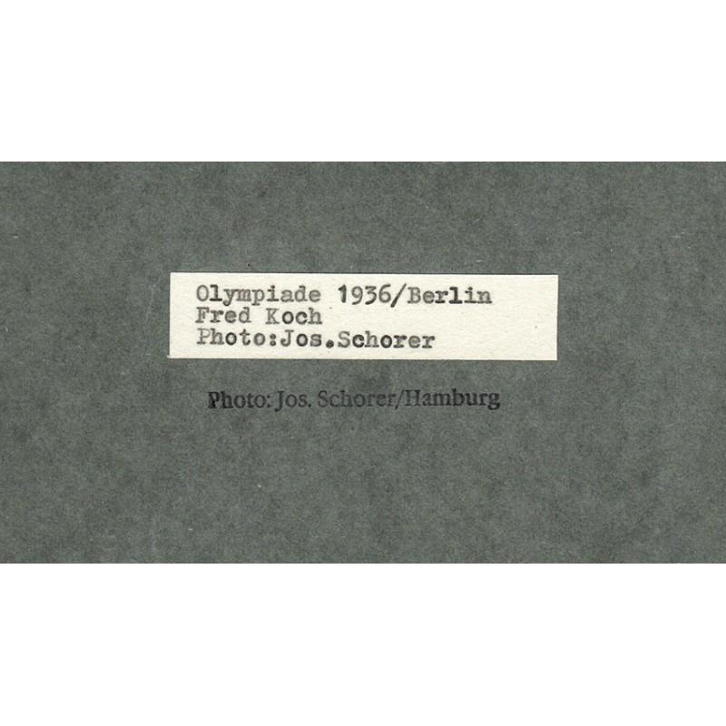 Joseph SCHORER: Olympic Games Berlin 1936: Photographer Fred Koch working. Original photo (1936 - printed 1950th)