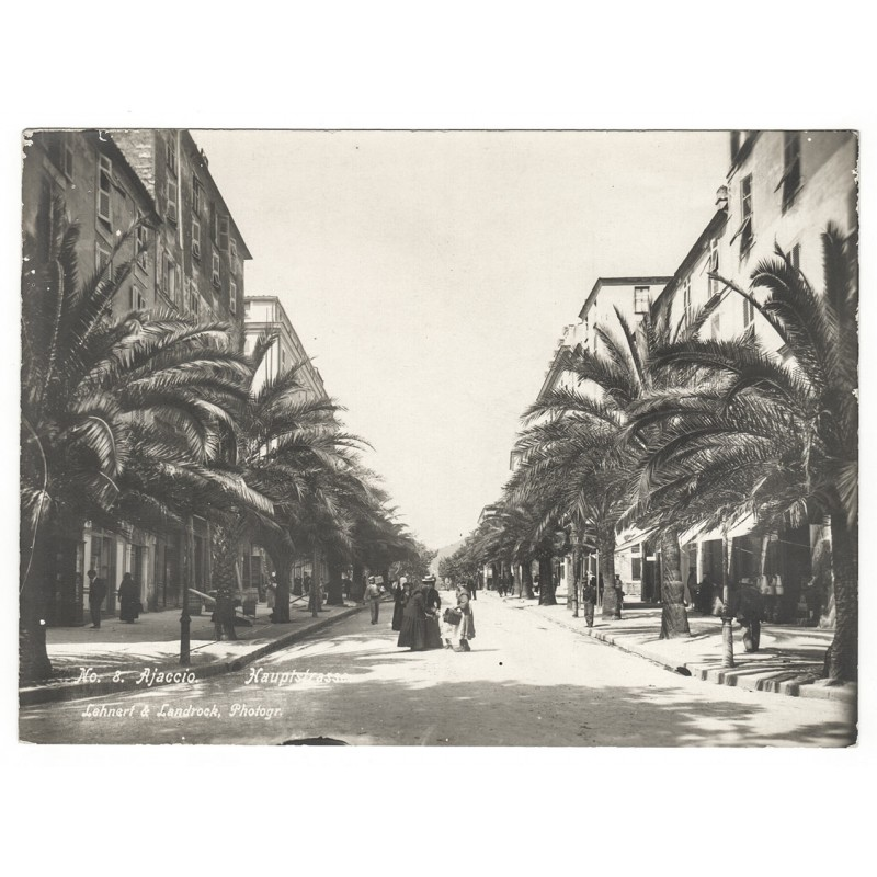 LEHNERT & LANDROCK: Ajaccio. Main Street. Original photography