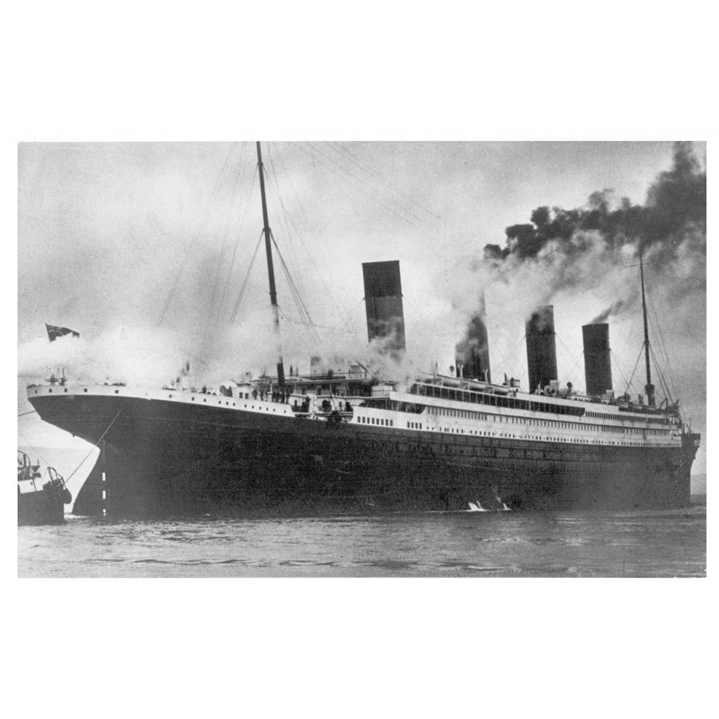 "Passenger Steamer ""TITANIC"" at sea. Original photography (1912 - print 1970th)"