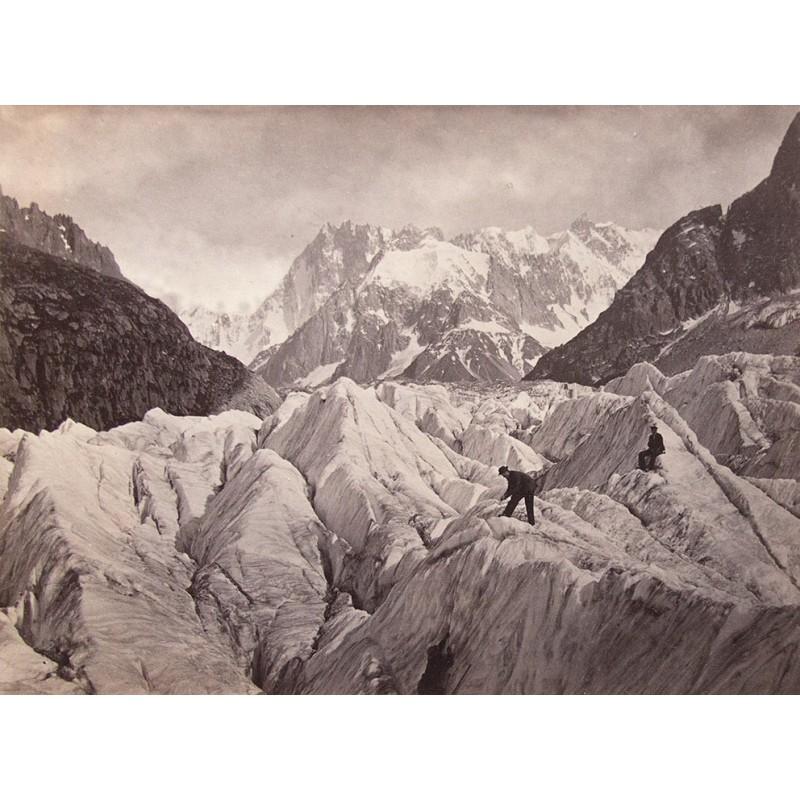 ENGLAND, William:Alpinisten auf einem Gletscher.Original-Fotografie (1863 - 1868)