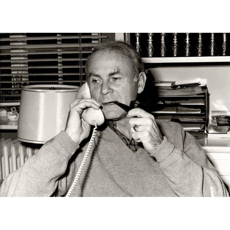 Loriot beim Telefonieren. Original Fotografie (ca. 1960er Jahre)