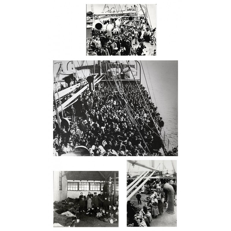 Anonymous - Emigrants. 4 Original photographs
