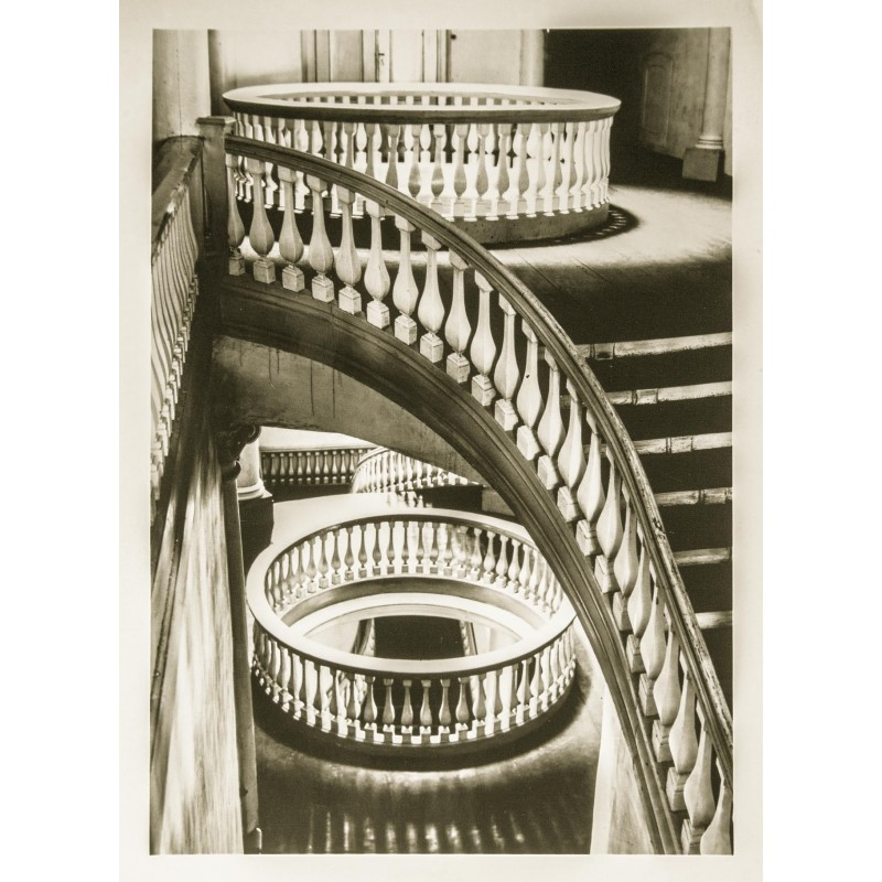 Gerhard KERFF: Old university Goettingen: Staircase 1960. Original photography