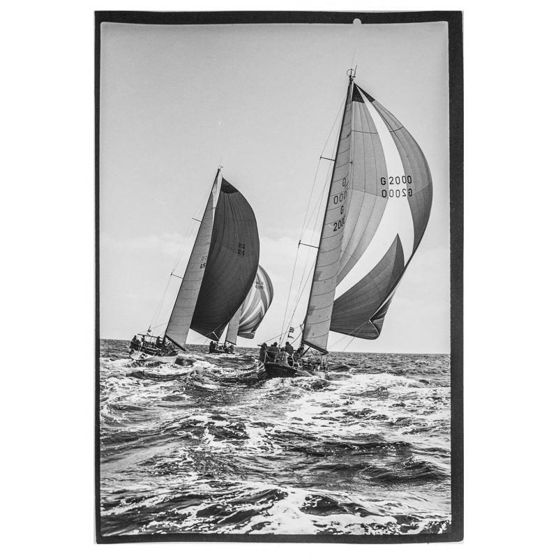 Yachtsegeln - Kieler Woche:Neumann, Peter - Yps:Die Yachten Pinta, Rubin und Christina. Original Fotografie.