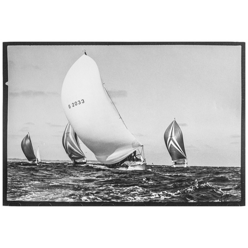 Kieler Woche - Neumann, Peter - Yps: Die Yachten Pinta, Rubin, Duva sowie Jan Pott. Original Fotografie.