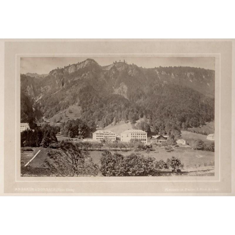BRAUN, Adolphe: ANSICHT von BAD STACHELBERG. Original-Fotografie. Albumin-Abzug (ca. 1871).