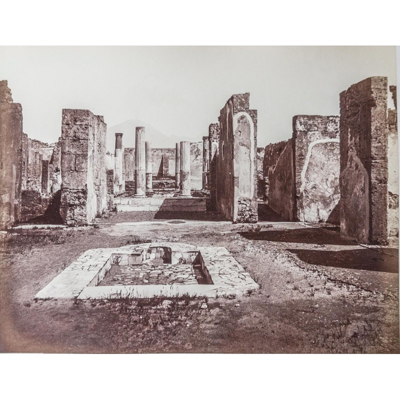 SOMMER, Giorgio: Casa di Panza i Pompei. Original photography. Albumen print (1863 - 1865).