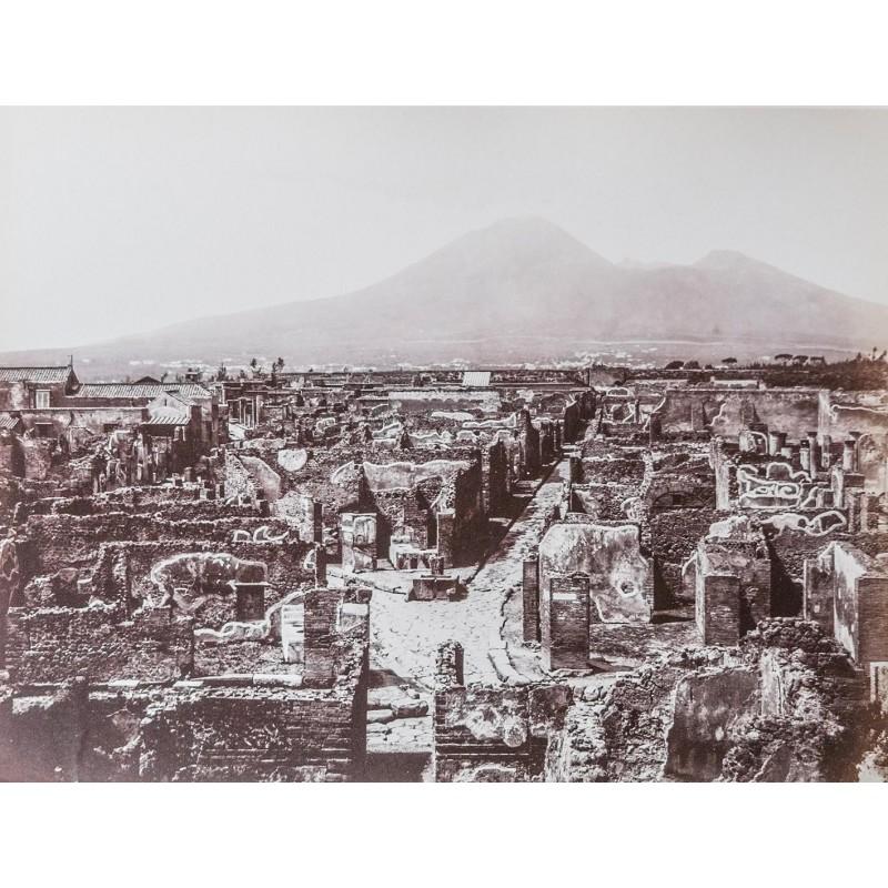 SOMMER, Giorgio: Pompei Panorama. Original photography. Albumen print (pre 1865).