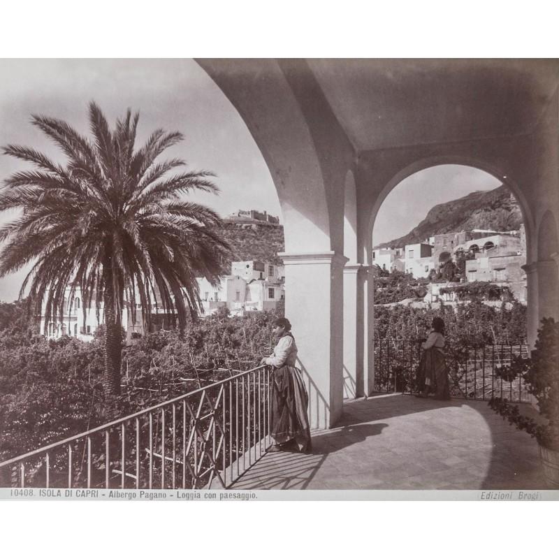 Capri - Editione Brogi: Isola di Capri - Albergo Pagano. Albumen print (approx. 1885).