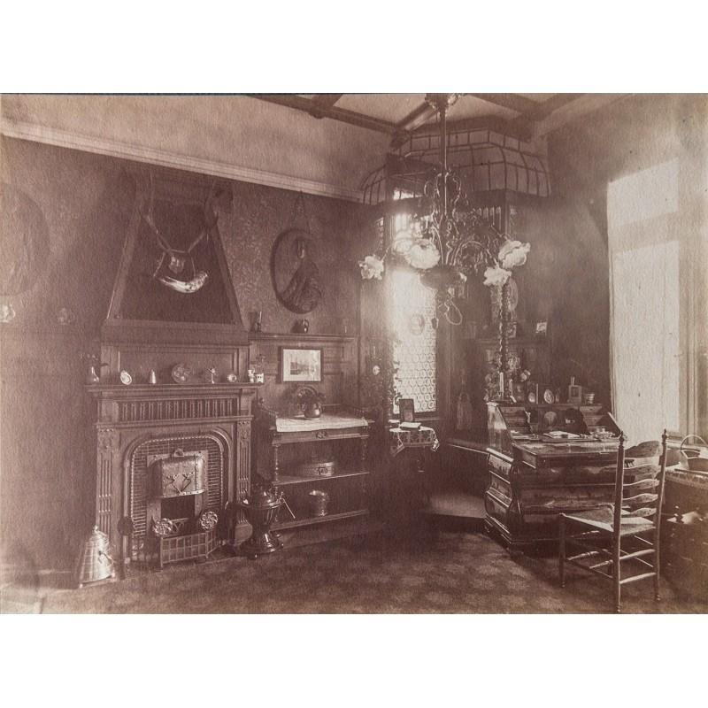 Jugendstil Einrichtung um 1900: Foto Dokument.