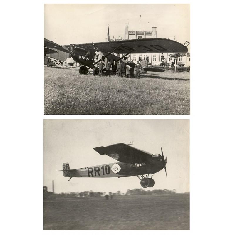Deutsche Lufthansa: Fluglinie Königsberg - Moskau mit einer Fokker F III im Jahr 1924 sowie der Flughafen Königsberg.