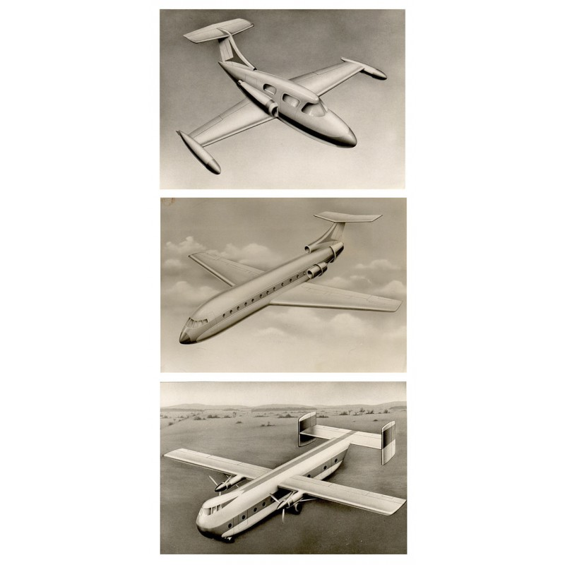 Messerschmitt AG, Augsburg: Drei Flugzeug-Entwürfe (1960er Jahre)